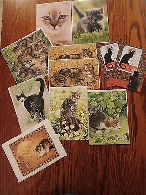 8 Lesley Anne Ivory Cat Blank Greeting Note Cards 2 Postcard 2 Cards Paper Place