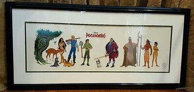 Disney Sericel Pocahontas Cast of Characters Cel Sericel Framed with COA