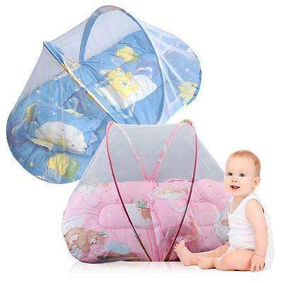 Cute Portable Foldable Baby Mosquito Tent Travel Infant Bed Net Instant Crib,New