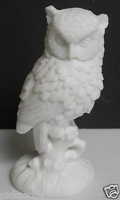 Vintage A. Santini Sculptor Italy Molded White Owl Perched on a Branch Figure