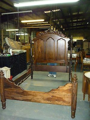 Antique Rosewood Victorian Era Bed, Full Size
