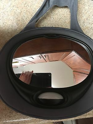 Safe fit Rear Car Seat Mirror With Remote Control. Play Music And Lights Up