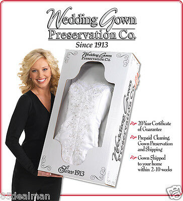 Bridal Wedding Gown Cleaning Preservation Box Service Kit Dresses XV Tux Uniform