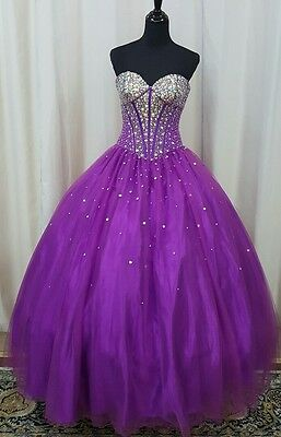 e6b266625ea NEW Princess by Mary s XV Sweet 16 Prom Quinceanera Dress 4Q903 Purple Size  10