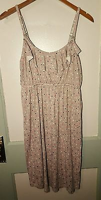 Women's A Pea In The Pod Gray & Multi-Color Polka Dot Maternity Sleep Size L