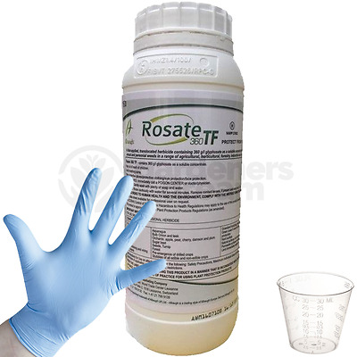 Rosate 360 TF Glyphosate Weedkiller 1 x 1 Litre Strong Professional Herbicide CG