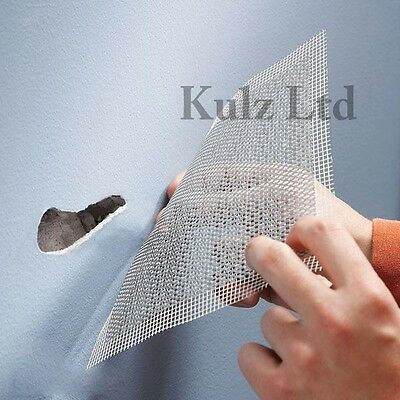Self Adhesive Mesh Repair Patch Holds Metal Permanent Damaged Wall Ceiling UK