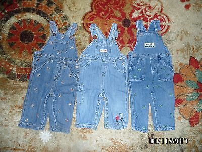 Lot: 3 Pairs of Size 18 Months Boys' Overalls & 4 Pairs Shorts