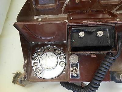 Vintage Military Field Phone With Shoulder Strap