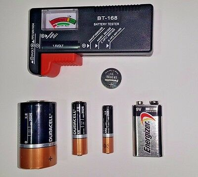 AA/AAA/C/D/9V/Button/Coin Universal Battery Tester *US-SHIPPER FAST*