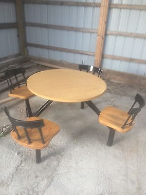 Restaurant Equipment 1 TABLE AND 4 CHAIRS WITH SWIVEL CHAIRS