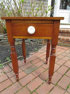 ANTIQUE NEW ENGLAND 19c PERIOD AMERICAN 1 DRAWER STAND OR TABLE in CHERRY