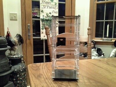Rotating Earring Display Stand Rack Acrylic Holds 32 Earring Cards