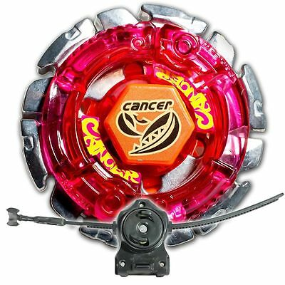 Dark Gasher / Cancer Metal Fusion 4D Beyblade STARTER SET w/ Launcher & Ripcord!