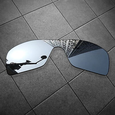 RAWD Silver Mirrored Replacement Lenses for-Oakley Batwolf Sunglasses POLARIZED