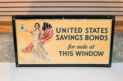Store Window  WWII United States Savings Bonds  Sign
