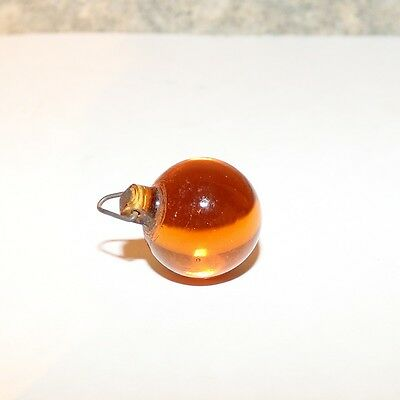 Vintage Czech  Glass Orb Amberina Lamp Pull Drop