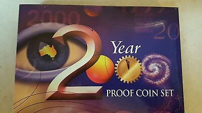 2000 Royal Australian Mint 6 Coin Proof Set With Boxes & Certificate