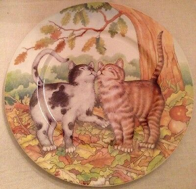 Cat Kitten Collector Plate ST. MARTIN EMAIL DE LIMOGES Hand Painted Decorative