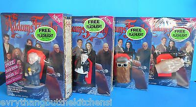 4 ADDAMS FAMILY CEREAL BOXES FULL UNOPENED FLASHLIGHT LURCH FESTER THING 11 oz