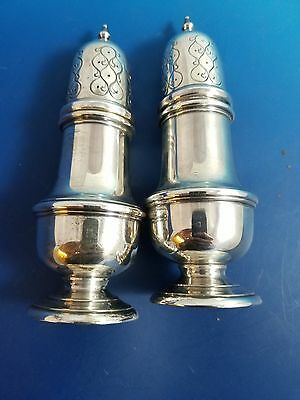"""Heavy Sterling Silver Salt and Pepper Shakers   5 1/2""""  Not Weighted"""