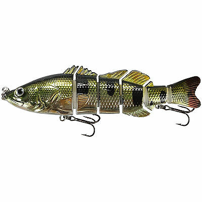 """KDS Custom Slow Sinking Jointed 6"""" Multi Section Swimbait - Holo Bass"""