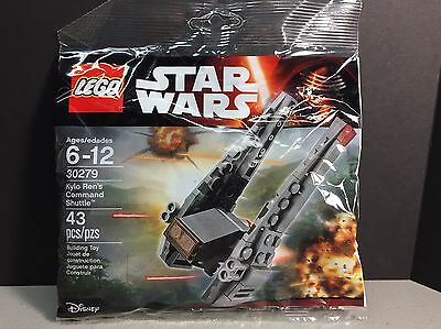 New LEGO STAR WARS KYLO REN'S COMMAND SHUTTLE POLYBAG - 30279  43 PCS Authentic