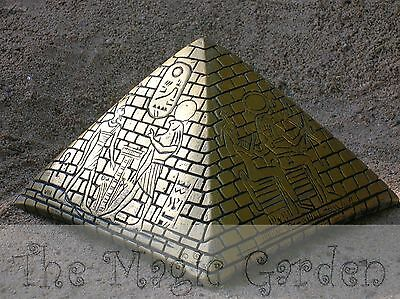 Large Egyptian pyramid cement plaster craft garden ornament latex moulds molds