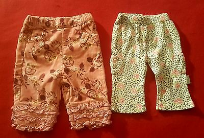 lot of 2 infant Girls pants size 3 months