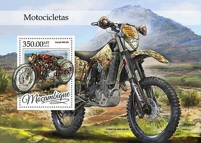 Z08 IMPERFORATED MOZ16314b MOZAMBIQUE 2016 Motorcycles MNH