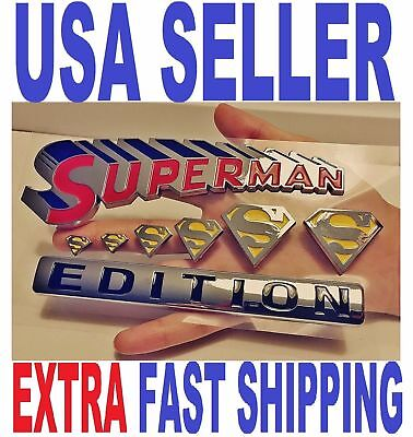SUPERMAN Edition Emblem Hero 3D Car Truck TOYOTA Decal SUV SIGN Ornament BADGE