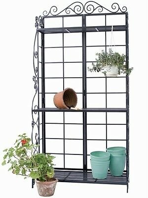 Potting Bench Plant Stand Flower 3 Shelf Panel Garden Tool Storage Hanging Pot