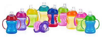 NEW Nuby Spill Proof Toddler Baby Infant 2 Handle Spout Training Sippy Cup