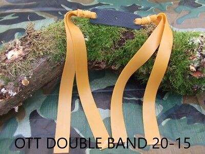 Double 20-15mm tapered Theraband gold bandset.