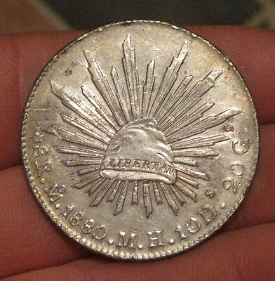 Mexico - 1880 MoMH Large Silver 8 Reales - Nice!