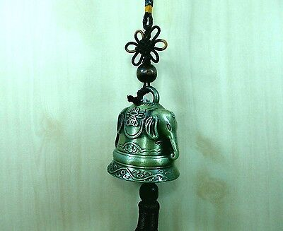 Bell Chime Brass elephant Thai Buddha Temple Style Hanging Rope Sound Good Rare