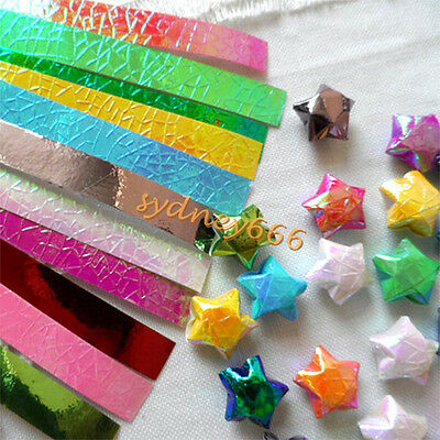90 Strips Star Origami Gradient Color Paper Pearlized DIY Handmade Lucky