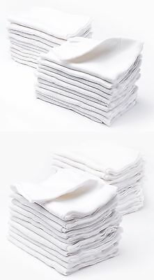Multipack Soft Large White Muslin Squares Cloth Bib 60x80cm 100%Thick Cotton NEW