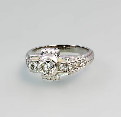 Platin Brillant - Ring Art Deco 99825288