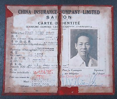 China Republic 1959 Carte Indentite of China Insurance Company Limited 1959