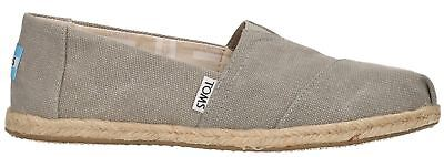 Toms Classic Grey Washed Womens Canvas Espadrilles Shoes