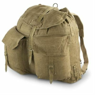 Original Czech army vintage rucksack with Y straps suspenders M60 canvas bag