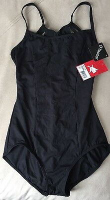 New Capezio Black Leotard, Medium - NWT