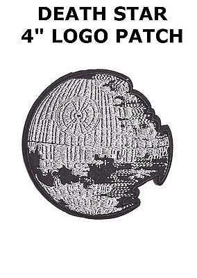 """Star Wars Death Star 4"""" Wide Embroidered Iron On Patch"""