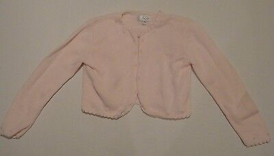US Angels  Pink Cardigan Sweater  Size 7/8
