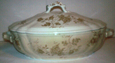Antique Anthony Shaw & Co England Warranted Stone China Covered Vegetable Dish