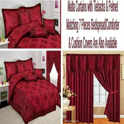 Malta Pelmet Curtains And Pay Separately For Matching Bedspread Comforter Red