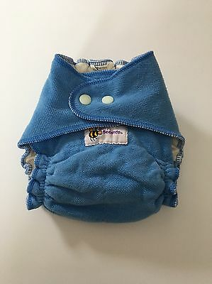 Baby Behind One-size Bamboo/ Organic Cotton/ Poly Blue Cloth Diaper