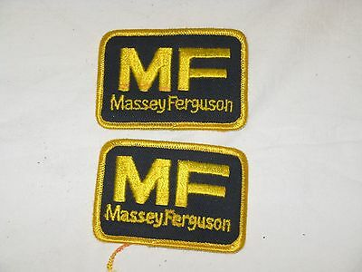 Massey Ferguson Tractor Embroidered Patches - Lot Of 2 -