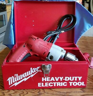 "Milwaukee Magnum Heavy Duty 1/2"" Electric Drill"